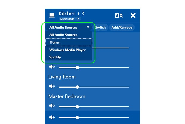 Play-Fi Windows App - audio source selection