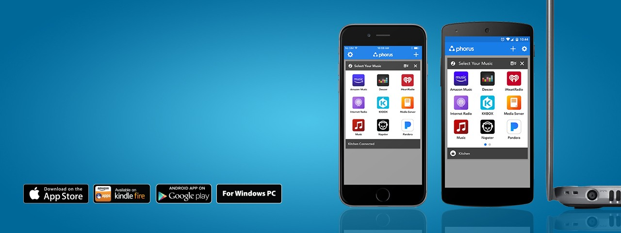 Apps available on the iOS App Store, through Google Play, on the Kindle Fire, and on your PC.