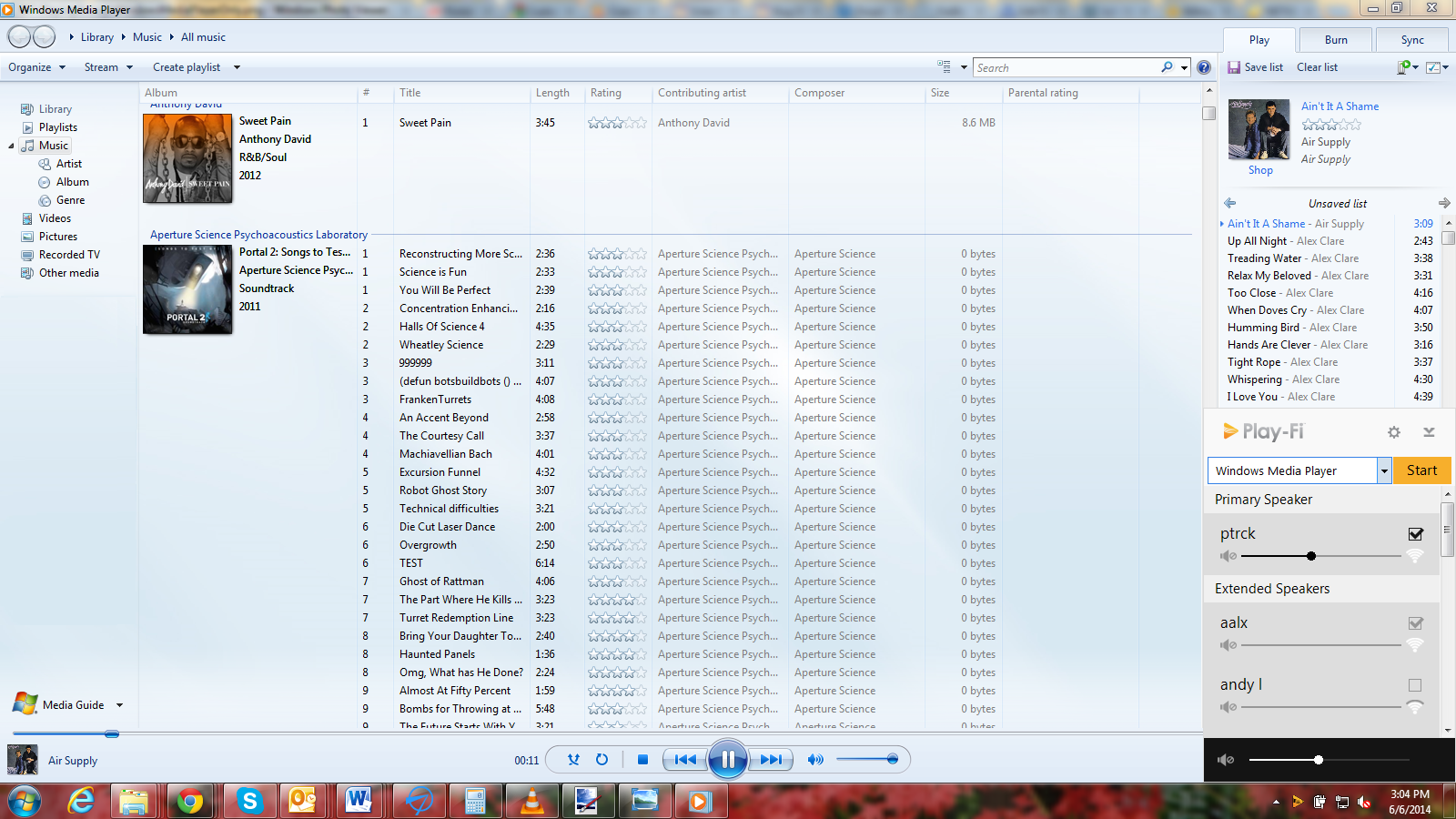 Streaming audio only from Windows Media Player!